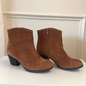 Brown Leather Lucky Brand Booties